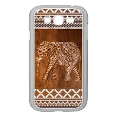 Elephant Aztec Wood Tekture Samsung Galaxy Grand DUOS I9082 Case (White)