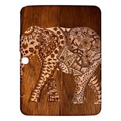 Elephant Aztec Wood Tekture Samsung Galaxy Tab 3 (10.1 ) P5200 Hardshell Case