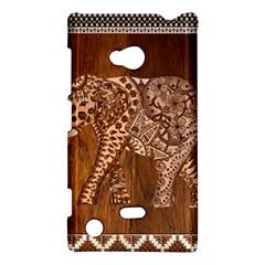 Elephant Aztec Wood Tekture Nokia Lumia 720