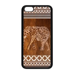 Elephant Aztec Wood Tekture Apple iPhone 5C Seamless Case (Black)