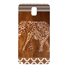 Elephant Aztec Wood Tekture Samsung Galaxy Note 3 N9005 Hardshell Back Case