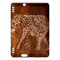 Elephant Aztec Wood Tekture Kindle Fire HDX Hardshell Case