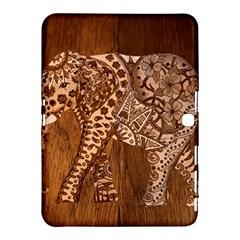 Elephant Aztec Wood Tekture Samsung Galaxy Tab 4 (10 1 ) Hardshell Case