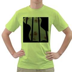 Fractal Prison Green T Shirt