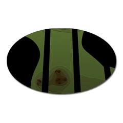 Fractal Prison Oval Magnet