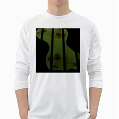 Fractal Prison White Long Sleeve T-Shirts