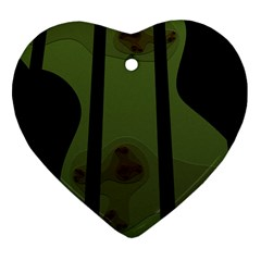 Fractal Prison Heart Ornament (two Sides)
