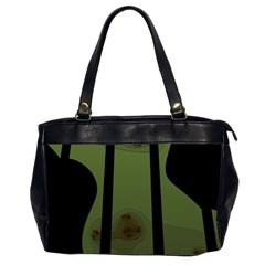 Fractal Prison Office Handbags (2 Sides)