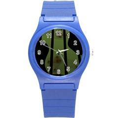 Fractal Prison Round Plastic Sport Watch (S)