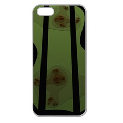 Fractal Prison Apple Seamless iPhone 5 Case (Clear)