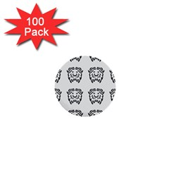 Animal Bison Grey Wild 1  Mini Buttons (100 pack)