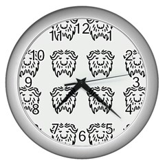 Animal Bison Grey Wild Wall Clocks (silver)