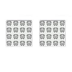 Animal Bison Grey Wild Cufflinks (square)