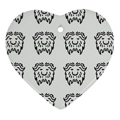 Animal Bison Grey Wild Heart Ornament (two Sides)