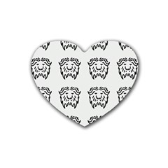 Animal Bison Grey Wild Heart Coaster (4 pack)