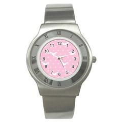 Wallpaper Same Palette Pink Star Bird Animals Stainless Steel Watch