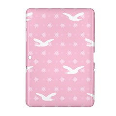 Wallpaper Same Palette Pink Star Bird Animals Samsung Galaxy Tab 2 (10.1 ) P5100 Hardshell Case