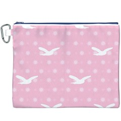 Wallpaper Same Palette Pink Star Bird Animals Canvas Cosmetic Bag (XXXL)