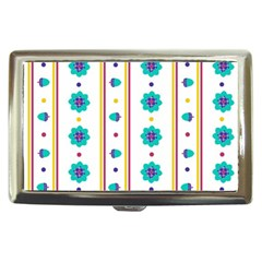Beans Flower Floral Blue Cigarette Money Cases