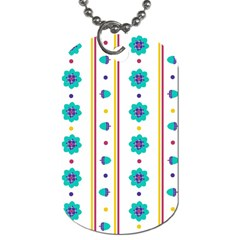 Beans Flower Floral Blue Dog Tag (Two Sides)