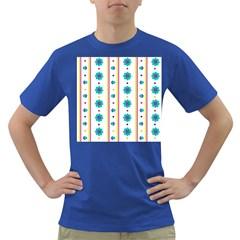 Beans Flower Floral Blue Dark T-Shirt