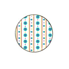 Beans Flower Floral Blue Hat Clip Ball Marker