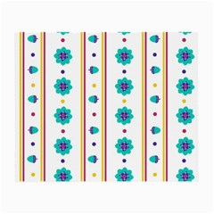 Beans Flower Floral Blue Small Glasses Cloth