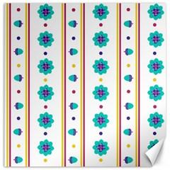 Beans Flower Floral Blue Canvas 12  X 12