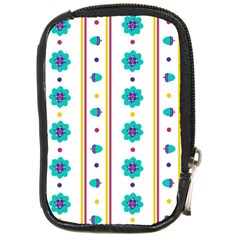 Beans Flower Floral Blue Compact Camera Cases