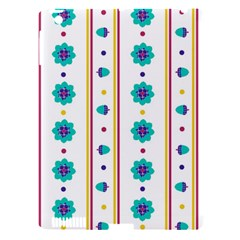 Beans Flower Floral Blue Apple iPad 3/4 Hardshell Case (Compatible with Smart Cover)