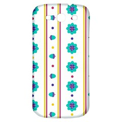 Beans Flower Floral Blue Samsung Galaxy S3 S III Classic Hardshell Back Case