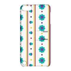 Beans Flower Floral Blue Apple iPod Touch 5 Hardshell Case with Stand