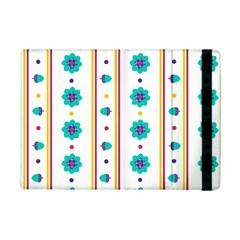 Beans Flower Floral Blue iPad Mini 2 Flip Cases