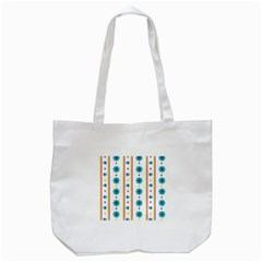 Beans Flower Floral Blue Tote Bag (White)