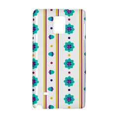 Beans Flower Floral Blue Samsung Galaxy Note 4 Hardshell Case