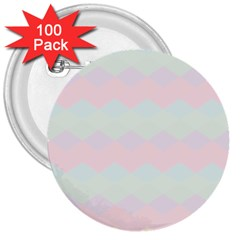 Argyle Triangle Plaid Blue Pink Red Blue Orange 3  Buttons (100 Pack)