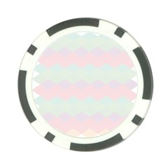 Argyle Triangle Plaid Blue Pink Red Blue Orange Poker Chip Card Guard