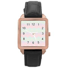 Argyle Triangle Plaid Blue Pink Red Blue Orange Rose Gold Leather Watch