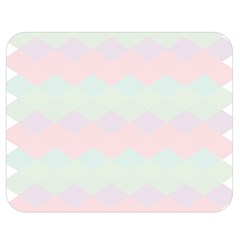 Argyle Triangle Plaid Blue Pink Red Blue Orange Double Sided Flano Blanket (Medium)