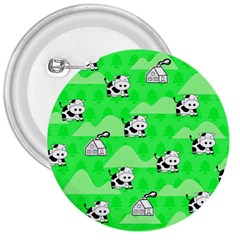 Animals Cow Home Sweet Tree Green 3  Buttons