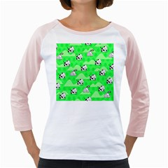Animals Cow Home Sweet Tree Green Girly Raglans
