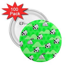 Animals Cow Home Sweet Tree Green 2.25  Buttons (100 pack)