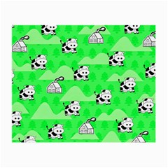 Animals Cow Home Sweet Tree Green Small Glasses Cloth
