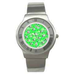 Animals Cow Home Sweet Tree Green Stainless Steel Watch