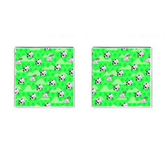 Animals Cow Home Sweet Tree Green Cufflinks (square)