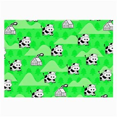 Animals Cow Home Sweet Tree Green Large Glasses Cloth (2-Side)