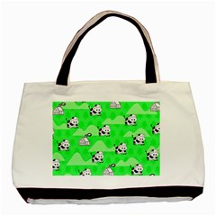 Animals Cow Home Sweet Tree Green Basic Tote Bag (two Sides)