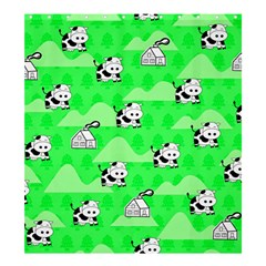 Animals Cow Home Sweet Tree Green Shower Curtain 66  x 72  (Large)