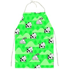 Animals Cow Home Sweet Tree Green Full Print Aprons