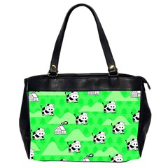 Animals Cow Home Sweet Tree Green Office Handbags (2 Sides)